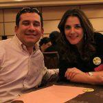 Gustavo Serrano y Julia Vial.