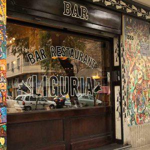 Frontis del Bar Liguria de Manuel Montt