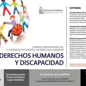 D.D.H.H y Discapacidad, la temática que se conversó en la U. de Chile