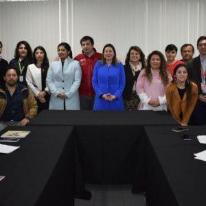 Grupo de personas representantes de la mesa intersectorial alianza Más Inclusión el Maule